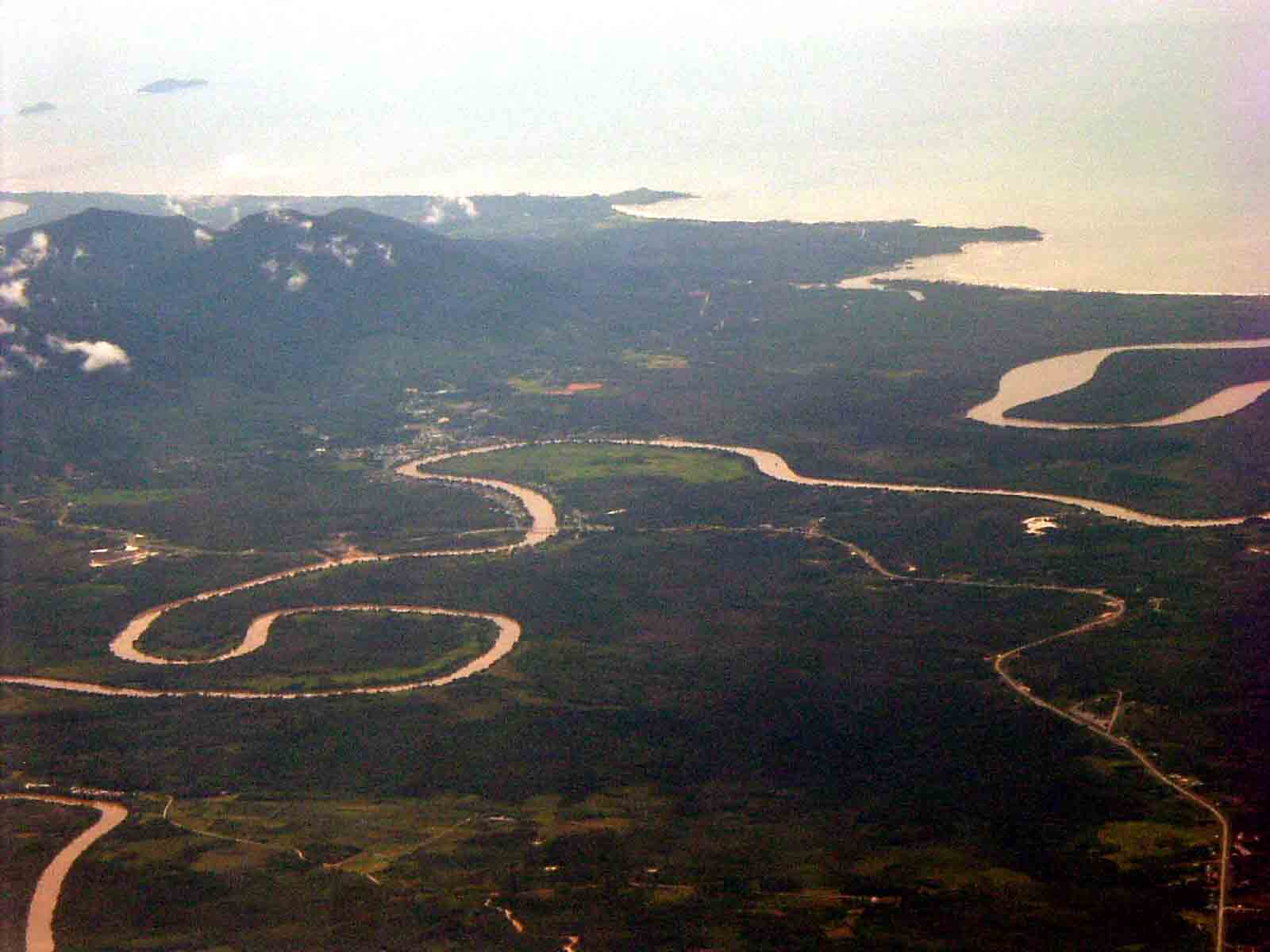 Lundu area from airliner